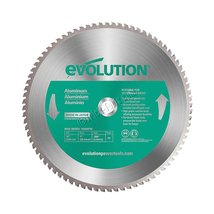 14bladeal Evolution 14 Inch Circular Saw Blade Aluminum
