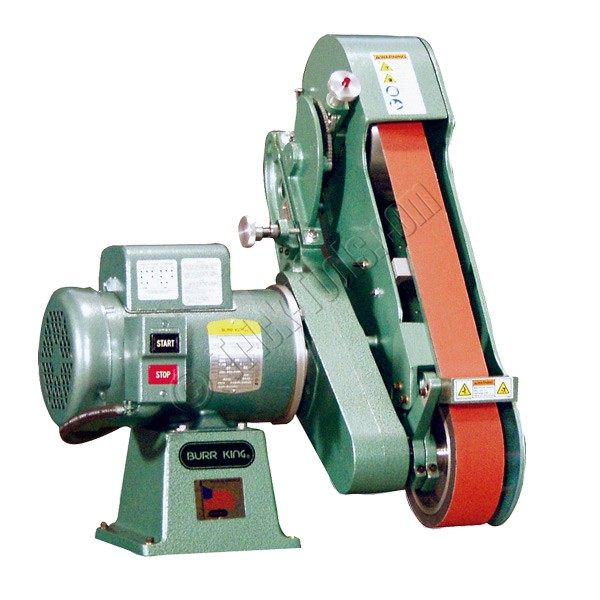 2 inch belt sander. burr king 960-250, 2-1/2 x 60 inch 2 wheel vertical/horizontal belt grinder, variable speed sander