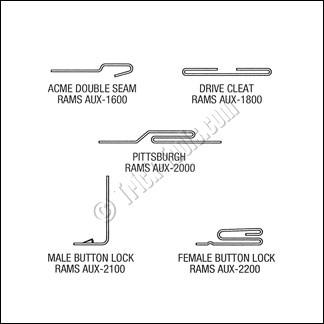 Rams Aux 2200 Female Button Lock Roll Set Hvac Sheet Metal