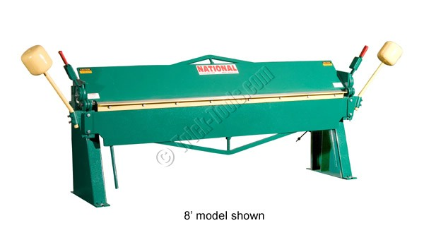 N9616 National Sheet Metal Machines 8 Foot Brake 16 Gauge
