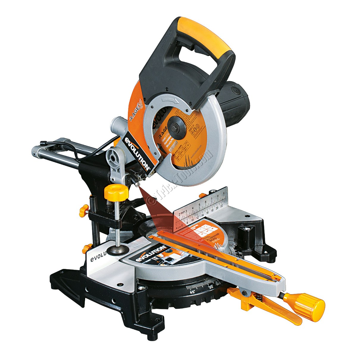 Evolution rage 3 metal cutting miter saw rage3 evolution rage 3fp multipurpose tct sliding miter saw greentooth Image collections