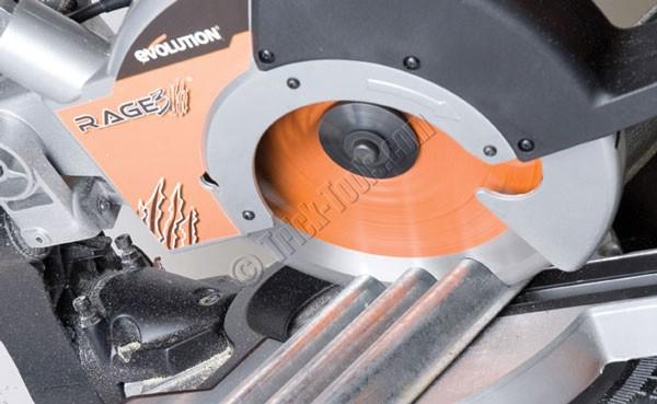 Evolution rage 3 metal cutting miter saw rage3 evolution rage 3 multipurpose tct sliding miter saw greentooth Gallery