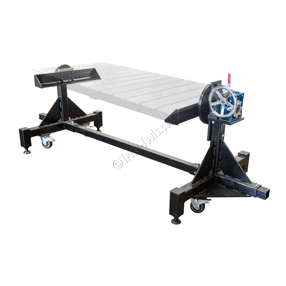 Rotary positioners for buildpro slotted tabletops for Large motorized rotating platform