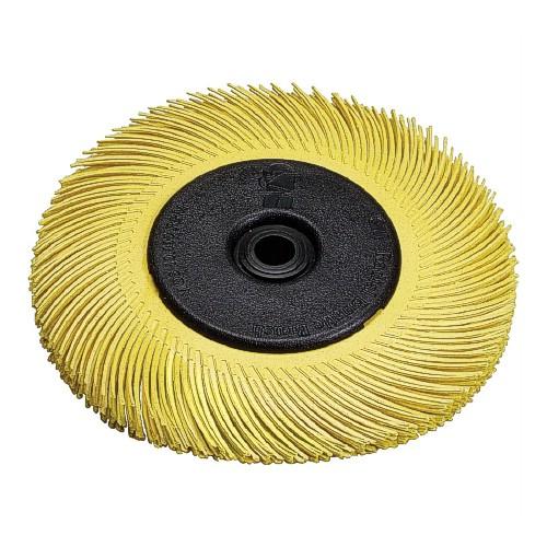6 X 1/2 Inch, 80 Grit 3M Scotch Brite Bristle Brush, Yellow