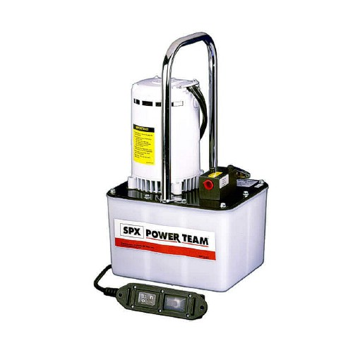 Electric Hydraulic Pump >> Spx Power Team 10 000 Psi Electric Hydraulic Pump And Hose