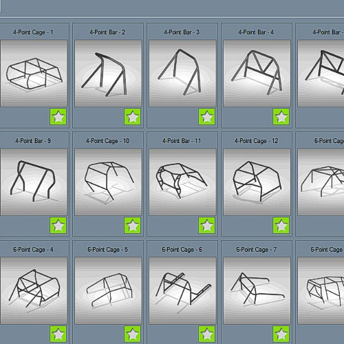 Bend-Tech RCT Roll Cage Templates Module
