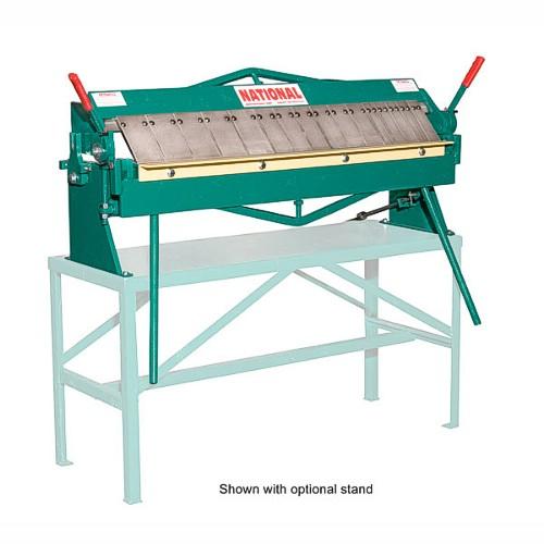U4816 National Sheet Metal Machines 4 Foot Box And Pan Brake 16 Gauge