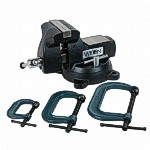 746, Wilton 6 inch Mechanics Vise and Clamp Set